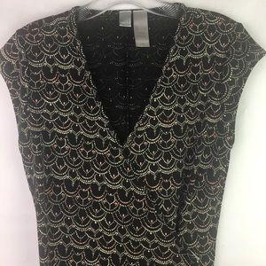 City DKNY Patterned Wrap Dress